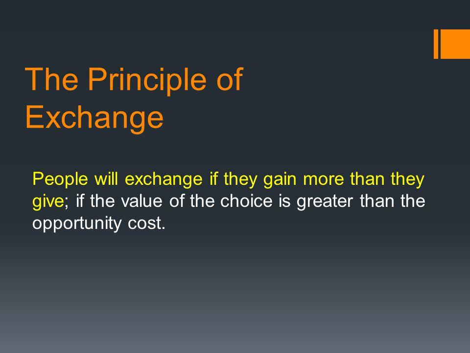 The Principle of Exchange