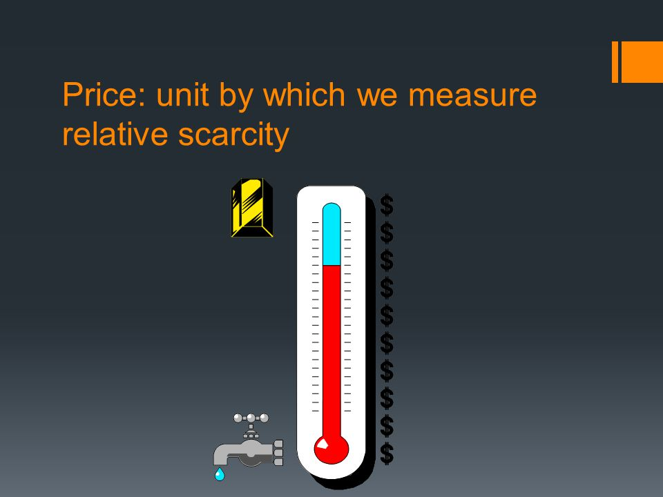 Price: unit by which we measure relative scarcity