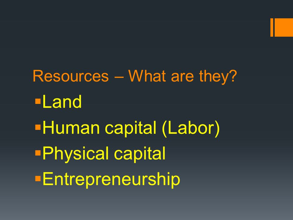 Resources – What are they