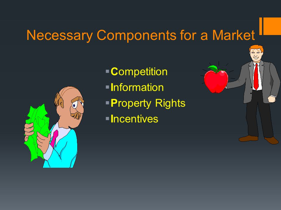 Necessary Components for a Market