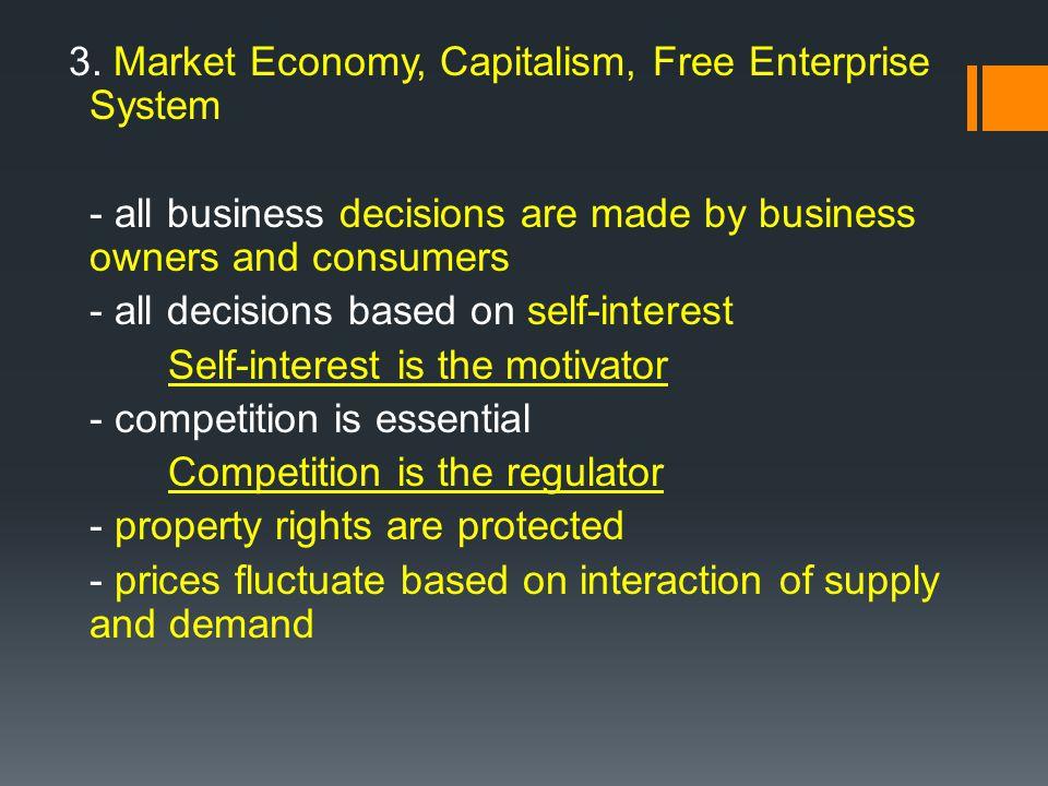 3. Market Economy, Capitalism, Free Enterprise System