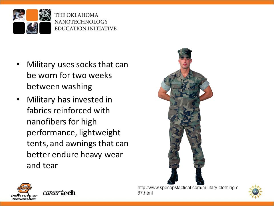 \ Military uses socks that can be worn for two weeks between washing
