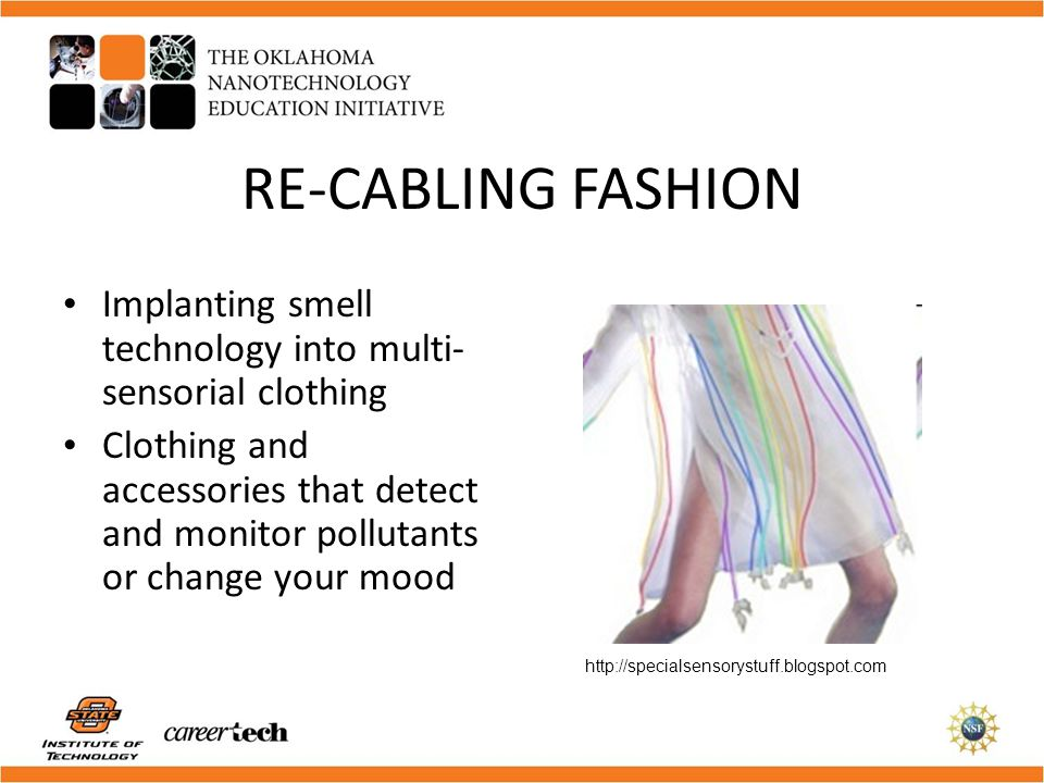RE-CABLING FASHION Implanting smell technology into multi-sensorial clothing.