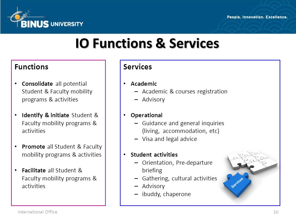 IO Functions & Services
