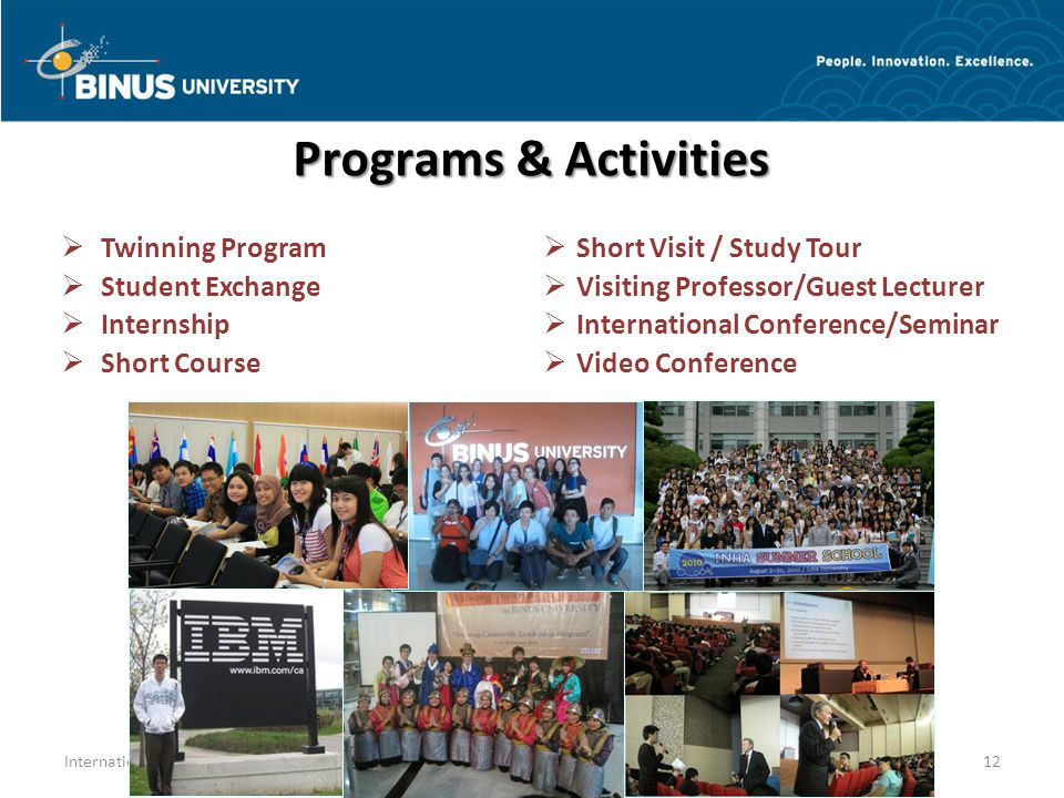 Programs & Activities Twinning Program Student Exchange Internship