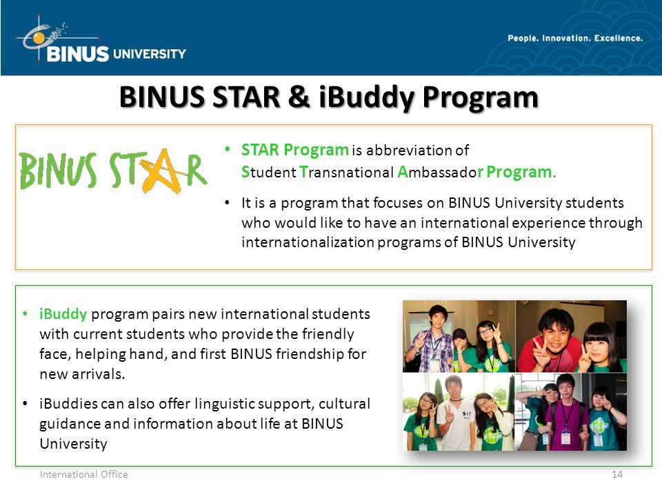 BINUS STAR & iBuddy Program