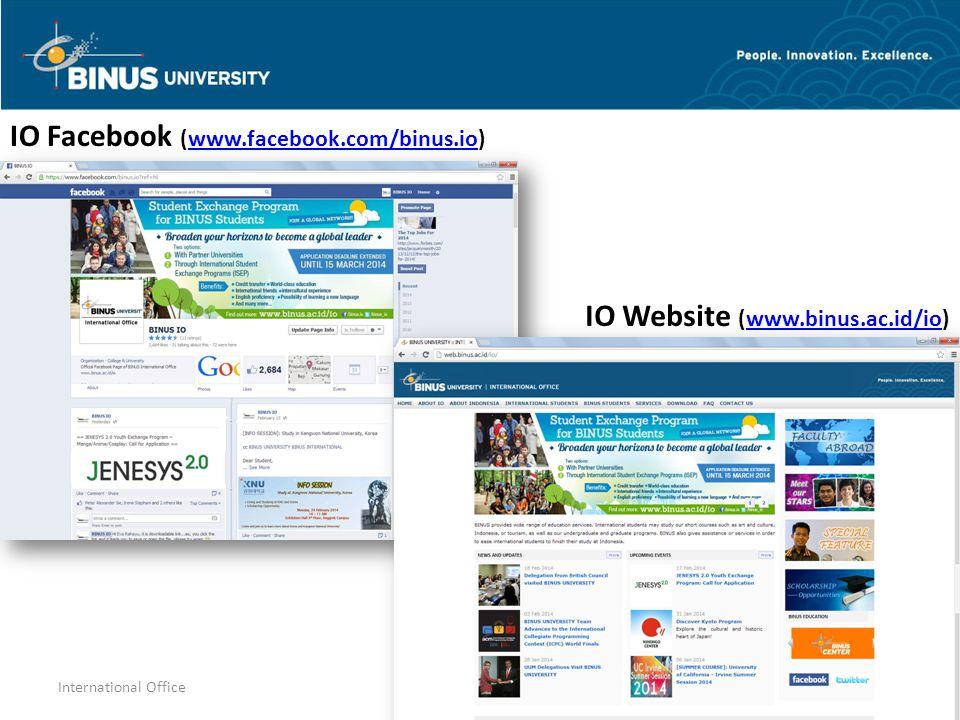IO Website (www.binus.ac.id/io)