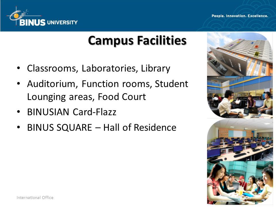 Campus Facilities Classrooms, Laboratories, Library