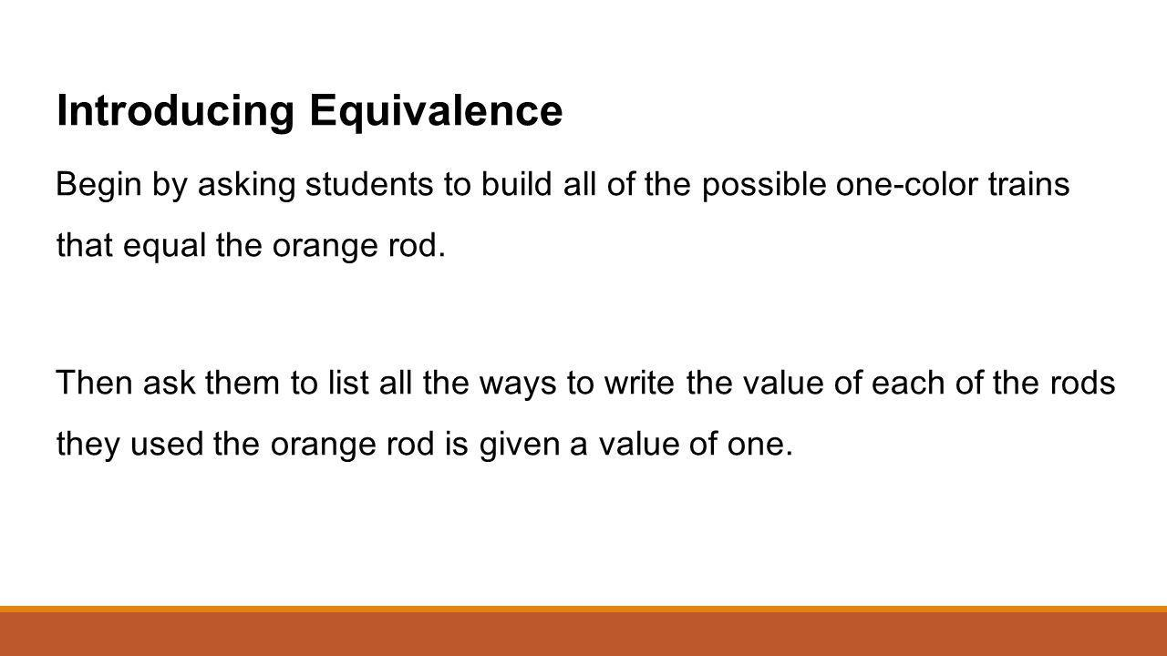 Introducing Equivalence