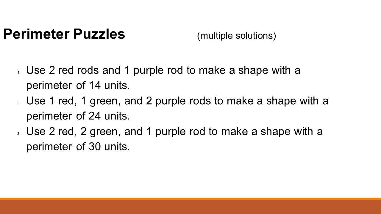 Perimeter Puzzles (multiple solutions)
