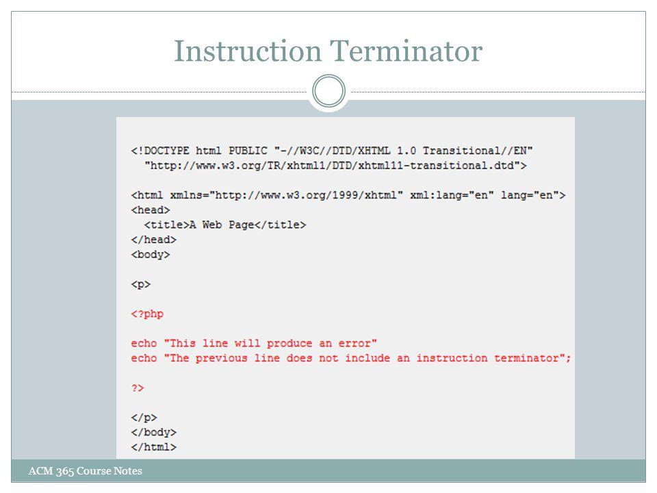 Instruction Terminator