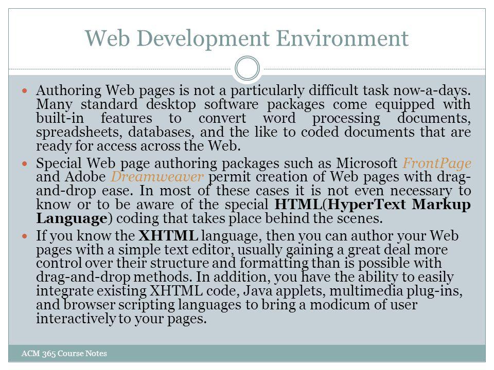 Web Development Environment