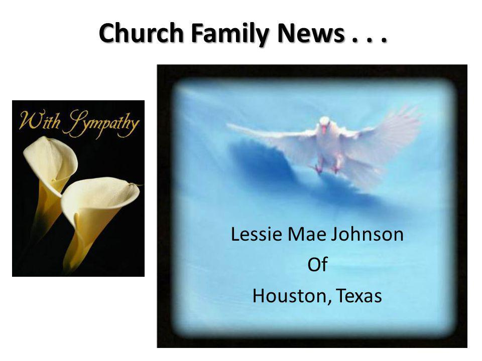Lessie Mae Johnson Of Houston, Texas
