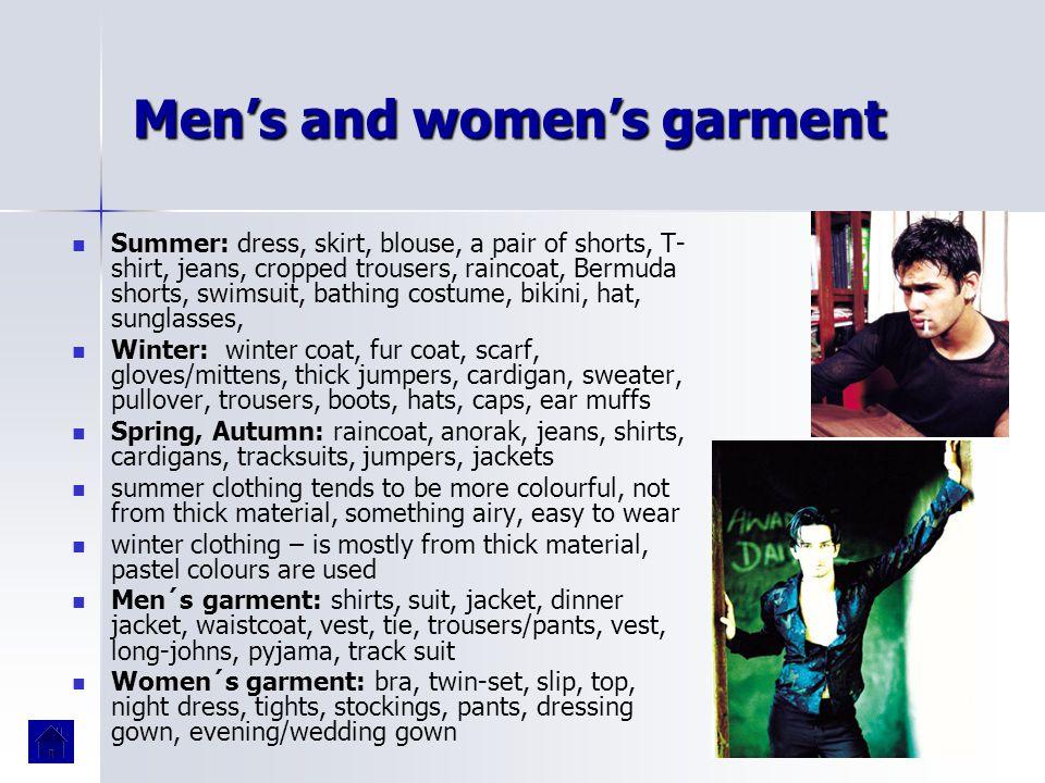 Men's and women's garment