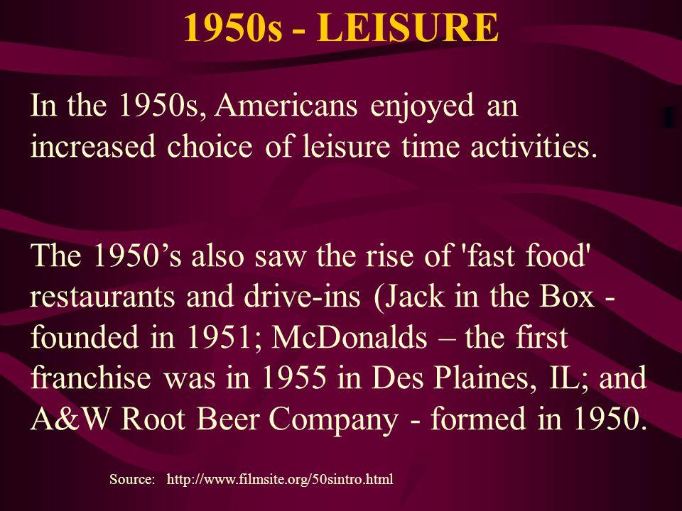 1950s - LEISURE