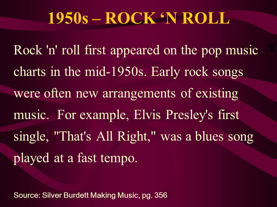 1950s – ROCK 'N ROLL
