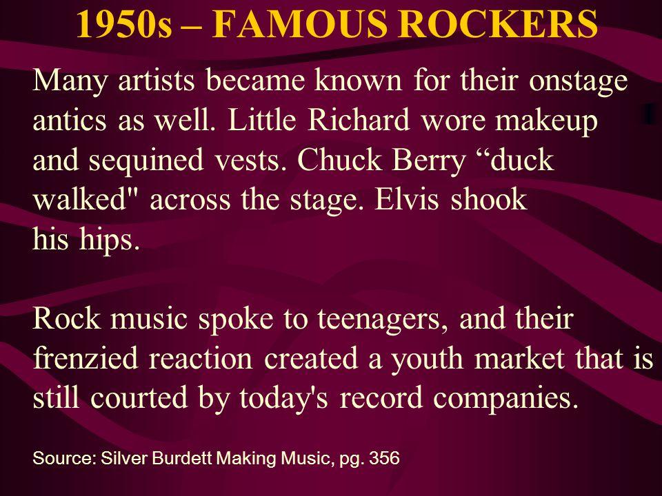 1950s – FAMOUS ROCKERS
