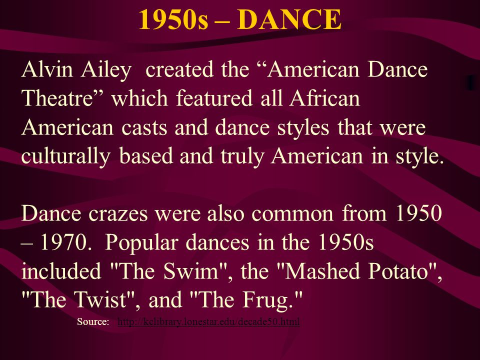 1950s – DANCE