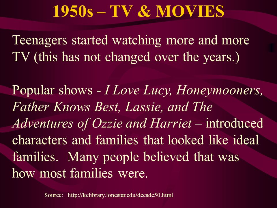 1950s – TV & MOVIES
