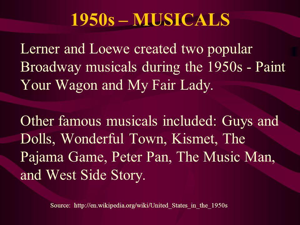 1950s – MUSICALS