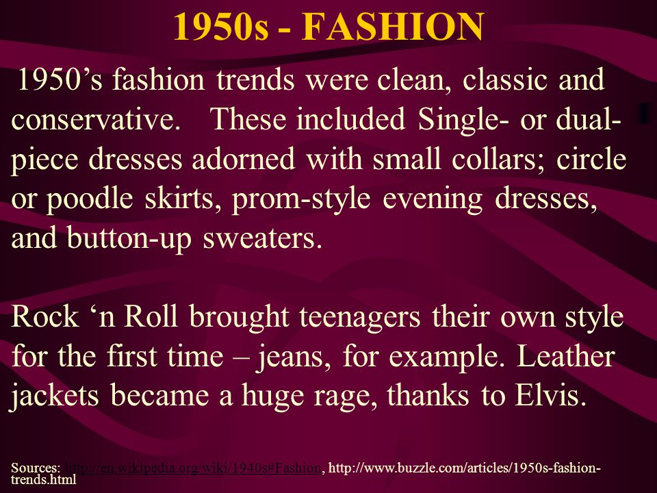 1950s - FASHION