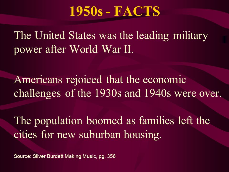 1950s - FACTS