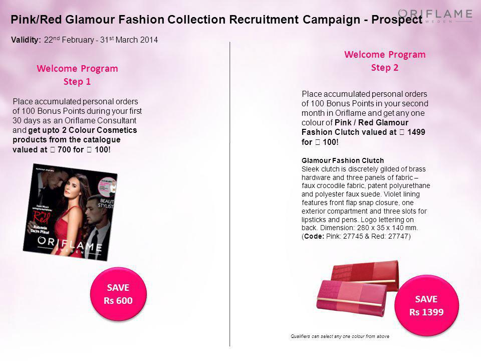 Pink/Red Glamour Fashion Collection Recruitment Campaign - Prospect