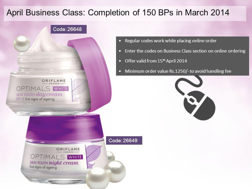 April Business Class: Completion of 150 BPs in March 2014