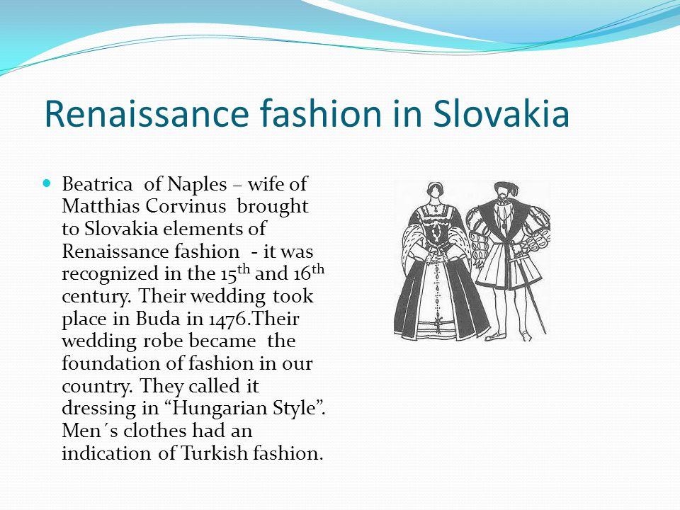 Renaissance fashion in Slovakia