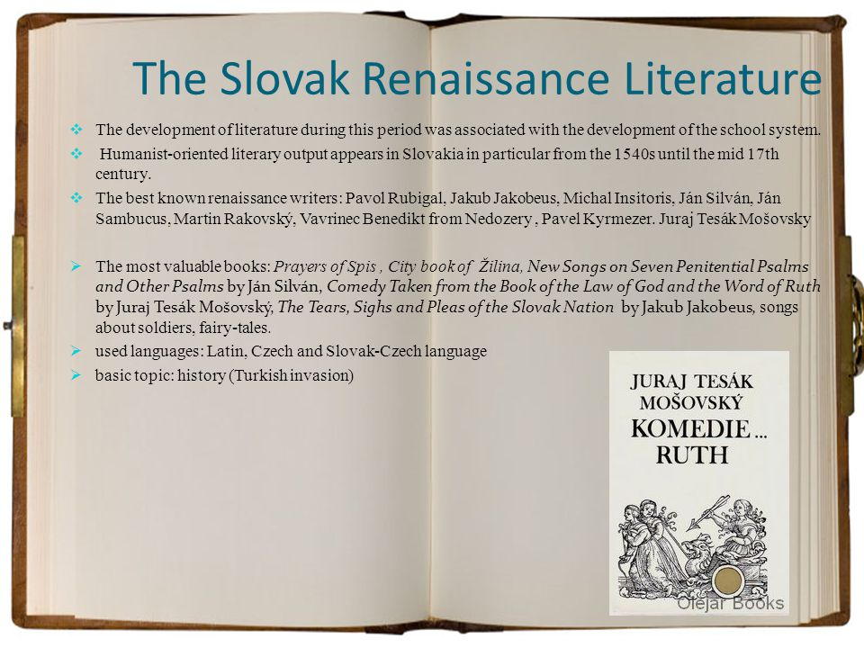 The Slovak Renaissance Literature