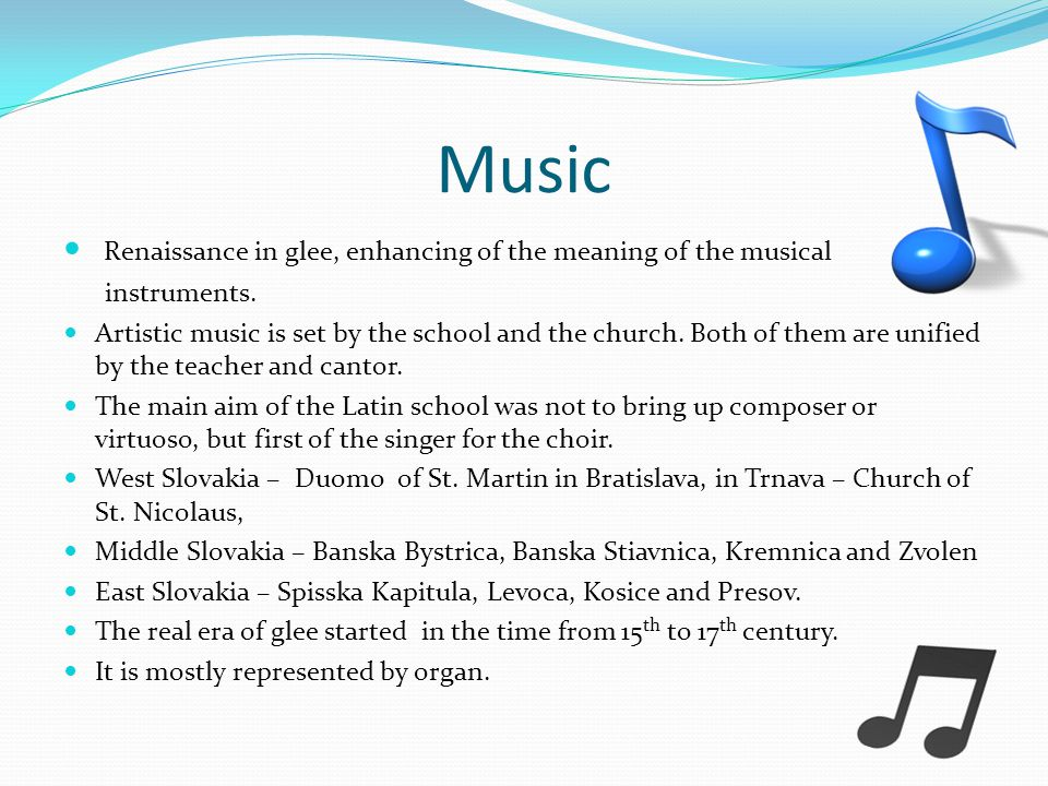 Music Renaissance in glee, enhancing of the meaning of the musical