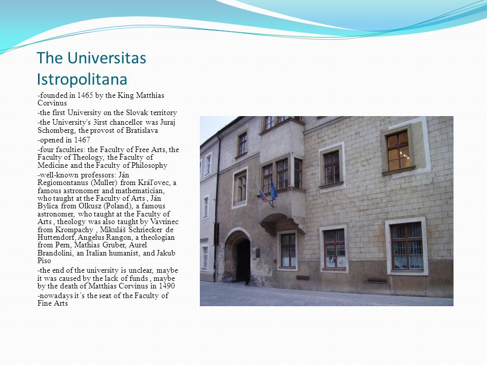 The Universitas Istropolitana