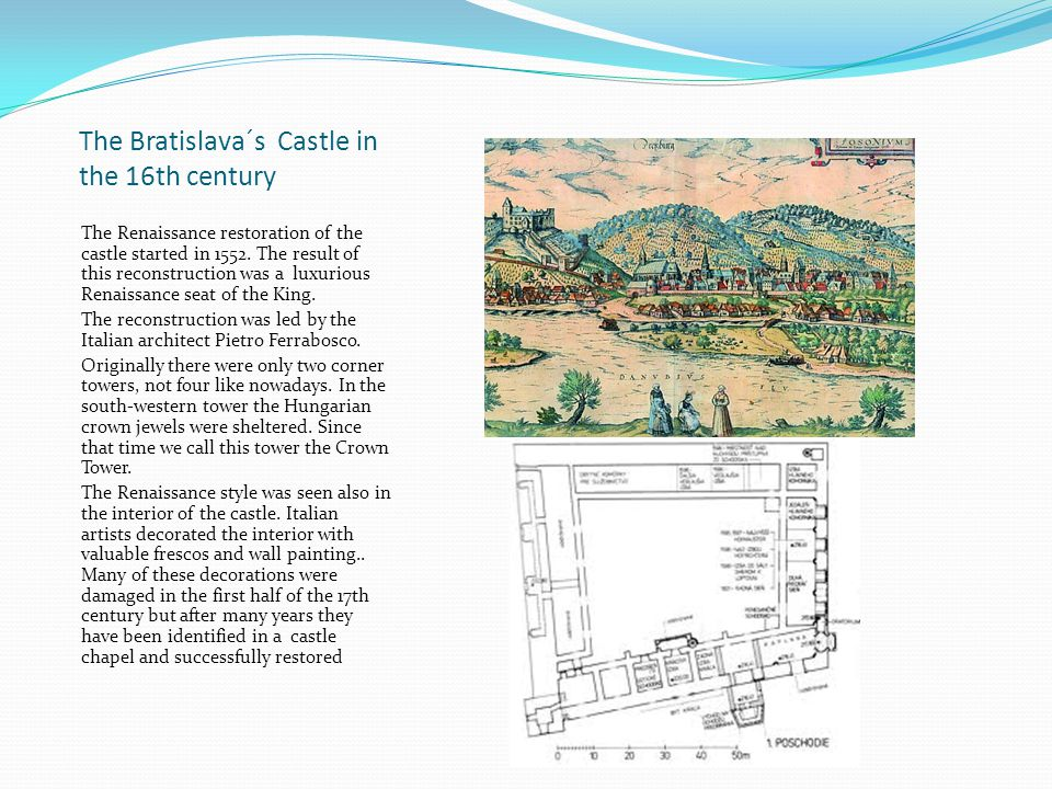 The Bratislava´s Castle in the 16th century