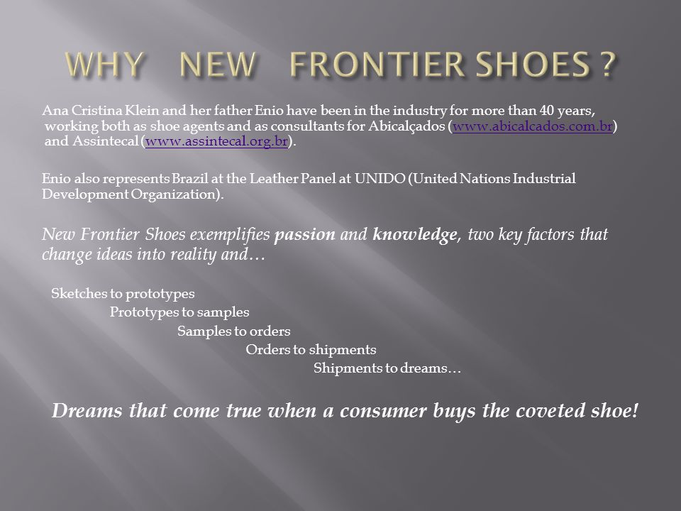 WHY NEW FRONTIER SHOES