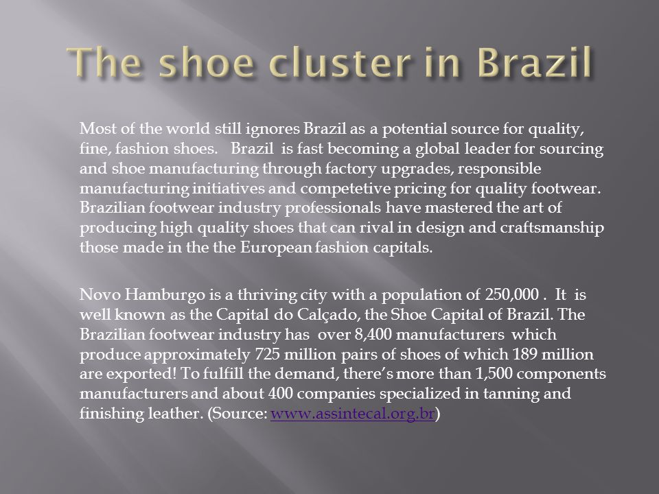 The shoe cluster in Brazil