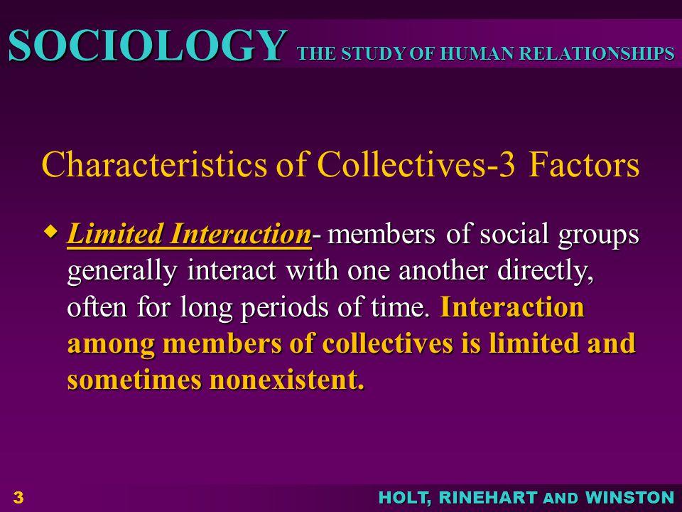 Characteristics of Collectives-3 Factors