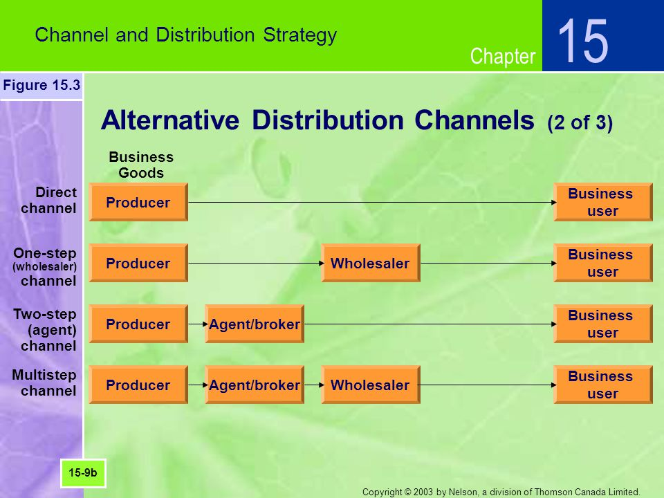 Alternative Distribution Channels (2 of 3)