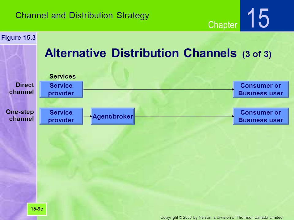 Alternative Distribution Channels (3 of 3)