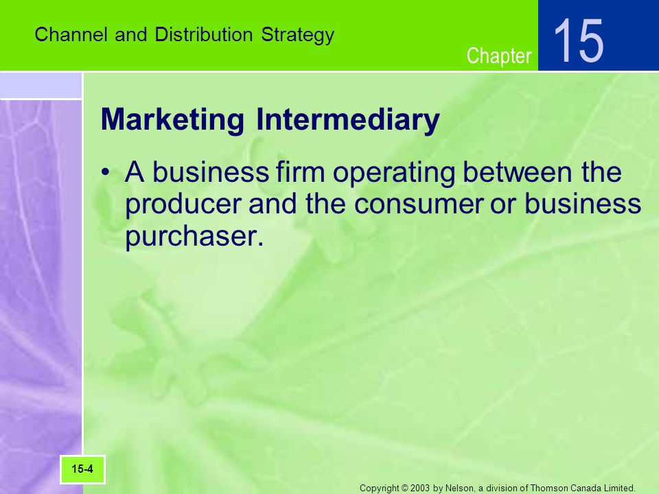Marketing Intermediary