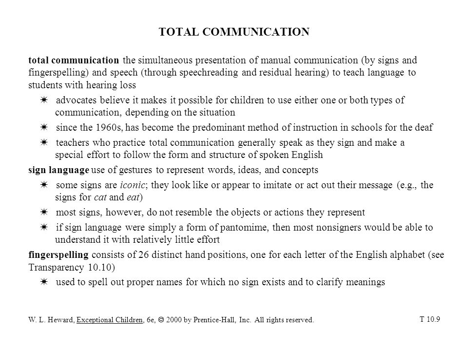 TOTAL COMMUNICATION