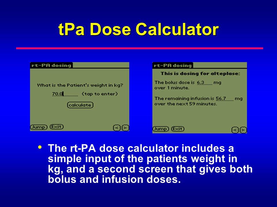 tPa Dose Calculator