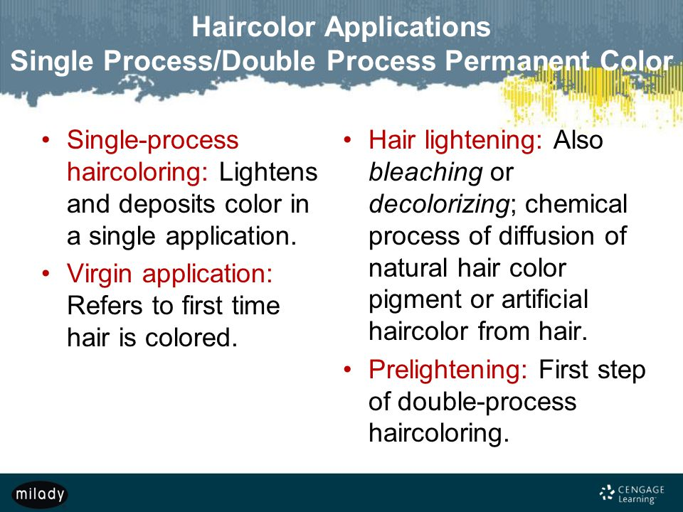 Haircolor Applications Single Process/Double Process Permanent Color