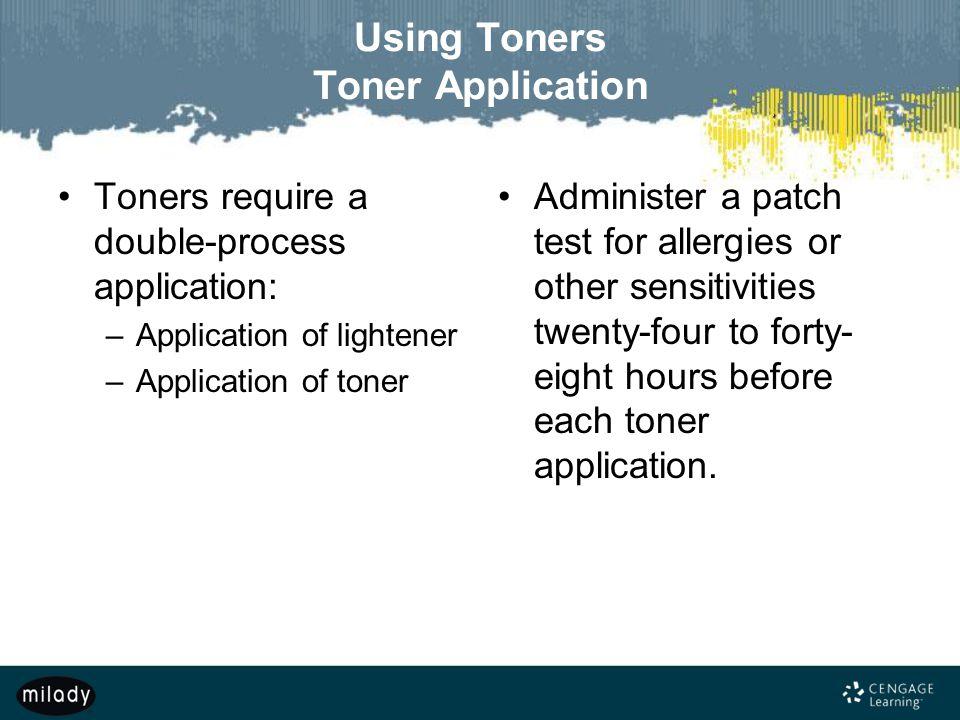 Using Toners Toner Application