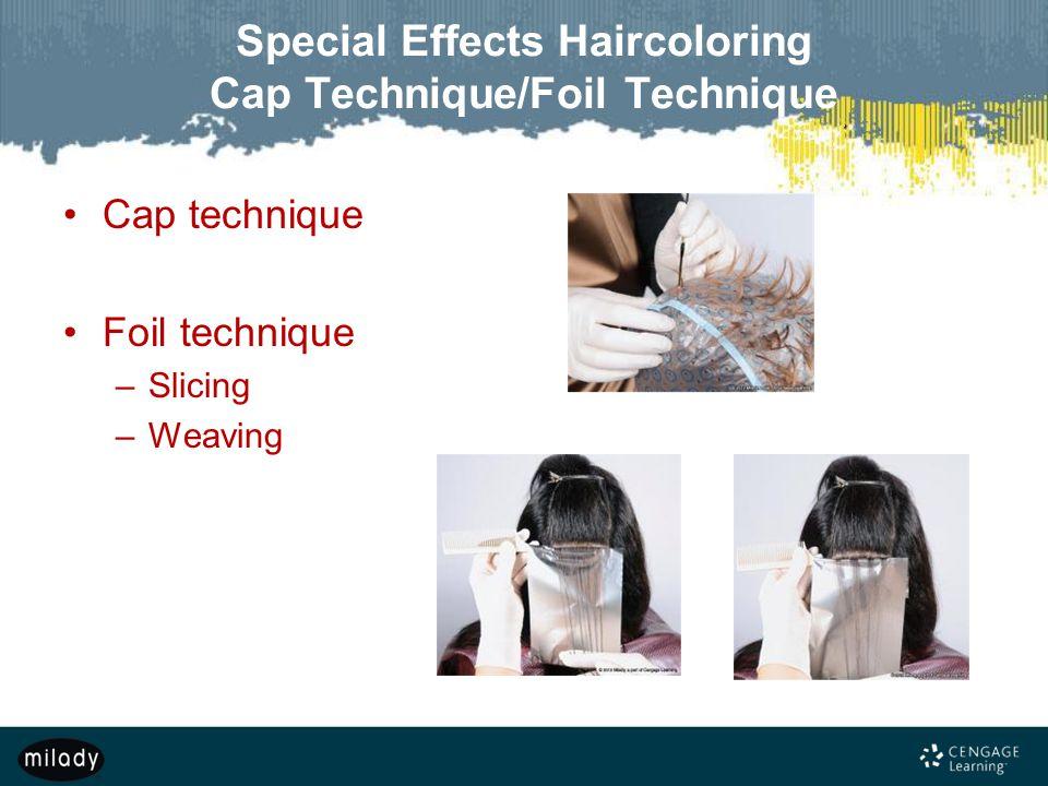 Special Effects Haircoloring Cap Technique/Foil Technique