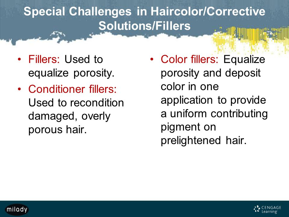 Special Challenges in Haircolor/Corrective Solutions/Fillers
