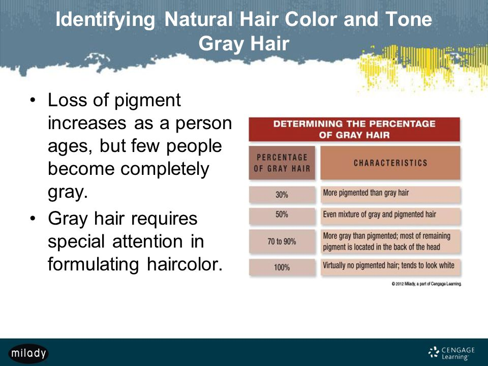 Identifying Natural Hair Color and Tone Gray Hair