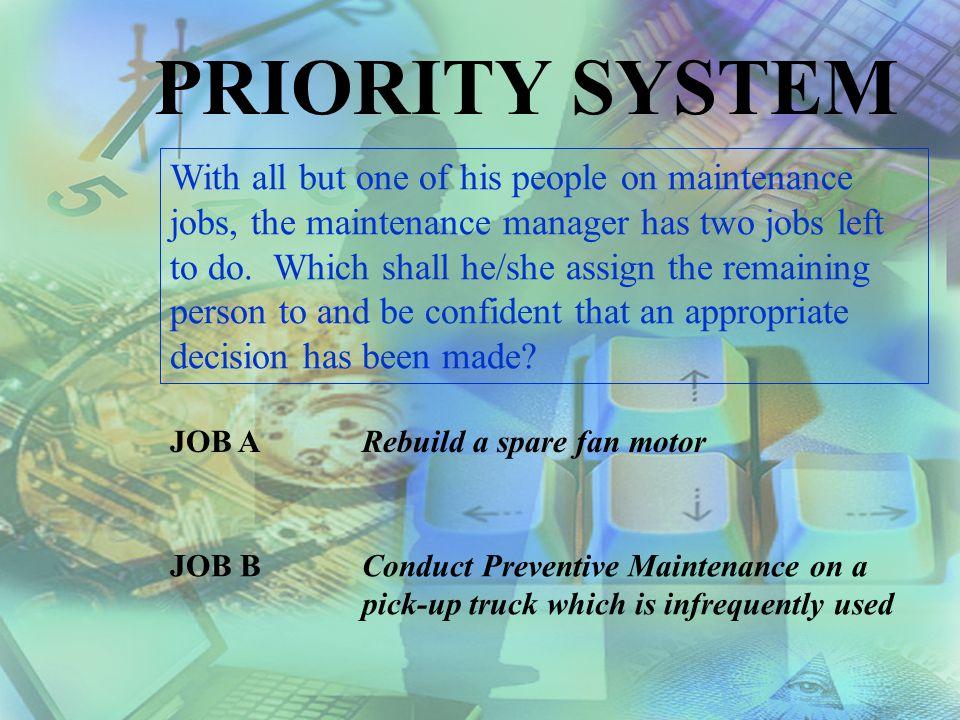 PRIORITY SYSTEM
