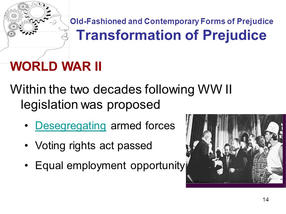 Within the two decades following WW II legislation was proposed