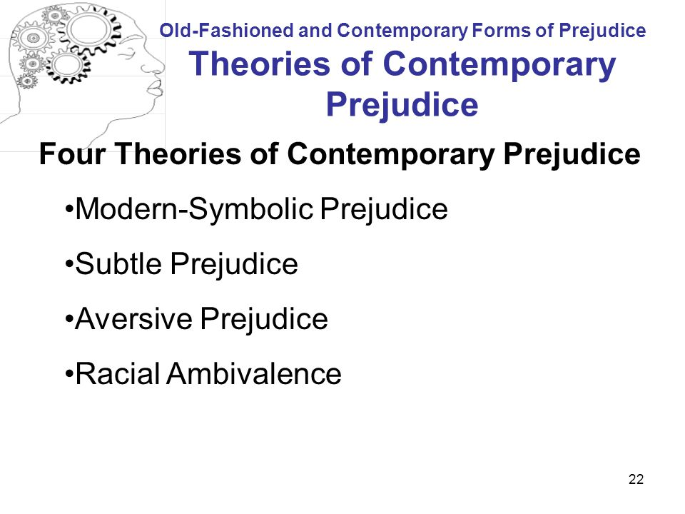 Four Theories of Contemporary Prejudice Modern-Symbolic Prejudice