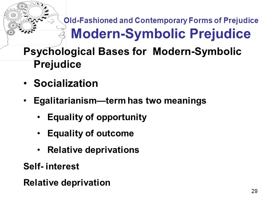 Psychological Bases for Modern-Symbolic Prejudice Socialization